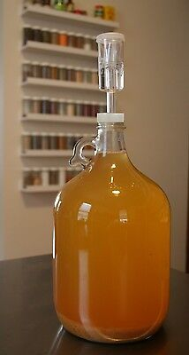 FERMENTING KIT 1 GALLON JUG w/AIRLOCK & CAPS FOR HOMEBREWING BEER WINE MAKING