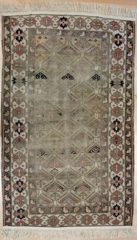 Classic Caucasian Kazak - 1900 Antique Shirvan Carpet - Taupe Rug - 3.6 X 5.8