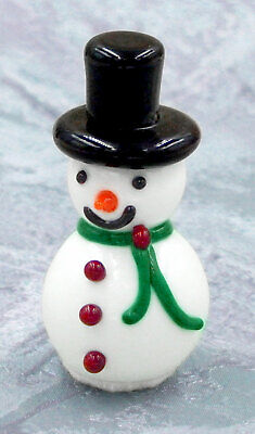 Hulet Glass Christmas Snowman White Chocolate Glass Treat (22-070W)  ()
