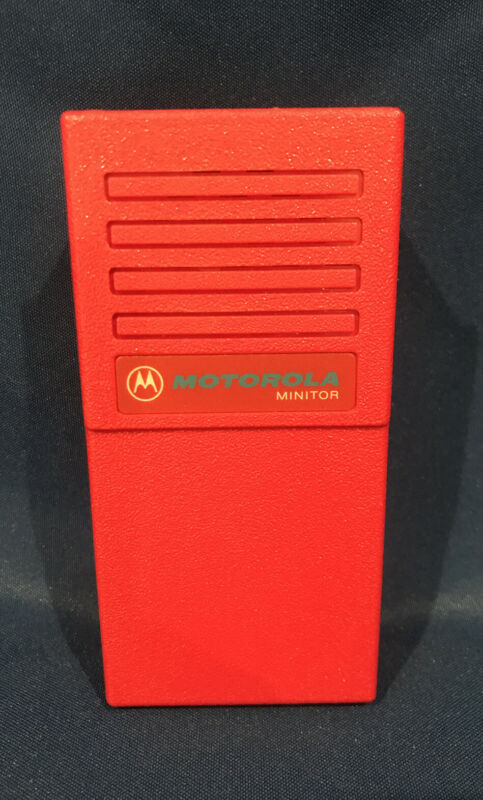 NOS MOTOROLA MINITOR I Pager Red Housing Refurb NEW NHN6253A