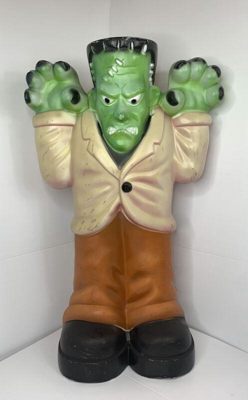 Vintage General Foam Frankenstein Monster Blow Mold Halloween Yard Decoration