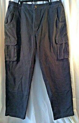 Cabela's Men's 40x30 Gray Cargo Work Pants Double Knee, Reinforced Pocket  EUC Double Pocket Cargo