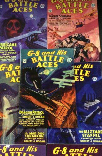 G-8 AND HIS BATTLE ACES #10 - 17, 19 ADVENTURE HOUSE GOLDEN AGE PULP REPRINT LOT