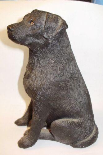 Older Black lab Dog sandicast figure