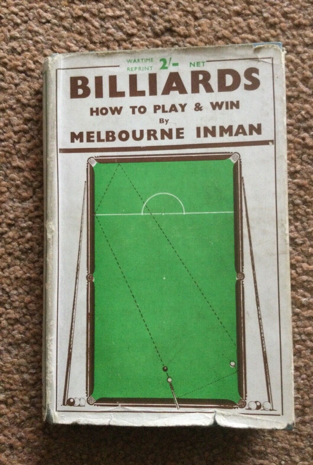 Billiards How to Play and Win by Melbourne Inman, Foulsham and Co Ltd