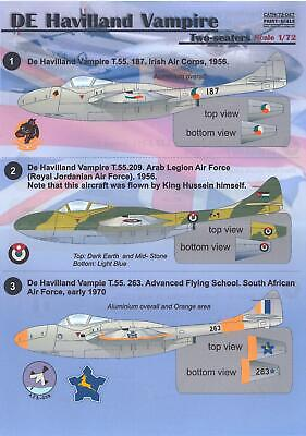 Used, Print Scale Decals 1/72 DE HAVILLAND VAMPIRE Two-Seaters for sale  Shipping to Canada