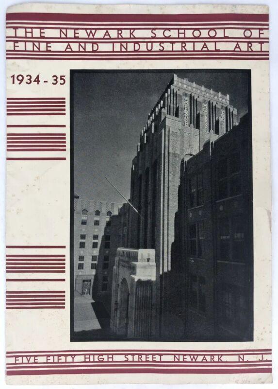 Antique NEWARK SCHOOL OF FINE & INDUSTRIAL ART 1934-35 NJ Booklet Art Deco Orig.