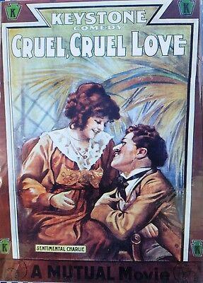 Cruel, cruel love - Charlie Chaplin,Minta Durfee Film Poster Mini (35 x 25 cm)