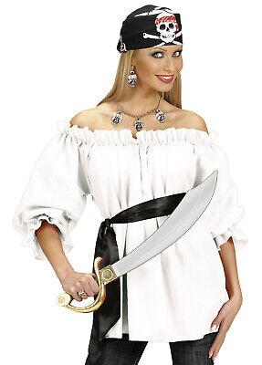Damen Piraten Top Weiß Shirt Kostüm Zigeuner Mittelalter Cowgirl Kostüm - Zigeuner Piraten Kostüm