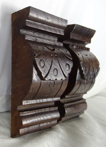 """Two French Antique Carved Wood Corbel - Wall Shelf Decor - Oak Wood -   5.51"""" T"""