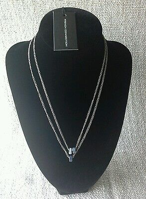 "French Connection Ladies Abacus Pendant 18"" Double Drop Necklace - Original Tag"