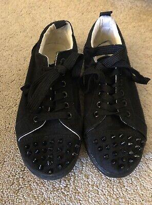 Misbehave Black Spiked Vans Look Alike Skateboard Tennis Shoes Womens Size - Vans Spikes