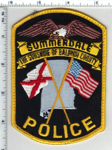 Summerdale Police (Alabama) Uniform Take-Off Shoulder Patch from the 1980