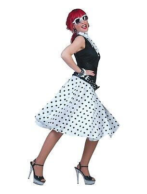 Funny Twin Costumes Halloween (Funny Fashion Halloween-Party 50's Sock Hop Skirt-White/Black w/ Matching)