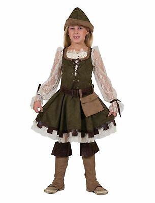Costume Carnevale Bambina Medievo Robin Hood Funny Fashion Art.410096