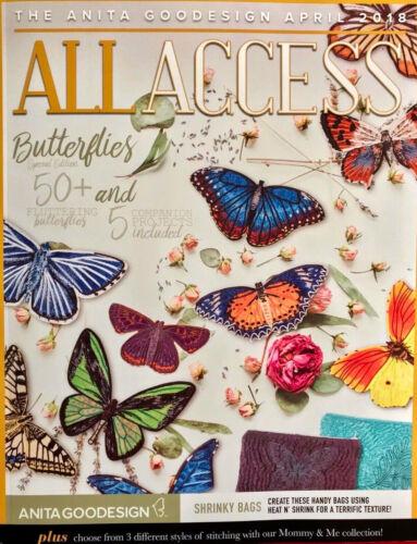 All Access VIP APRIL 2018 Anita Goodesign Machine Embroidery Designs CD