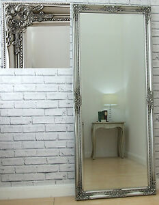 Eton SILVER Extra Large Shabby Chic Full Length leaner Floor Wall Mirror 62