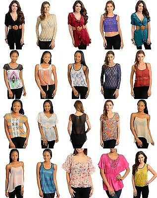 R1 WHOLESALE LOT 200 PCS WOMEN MIXED APPAREL CLOTHING TOPS SKIRTS LINGERIE S M L