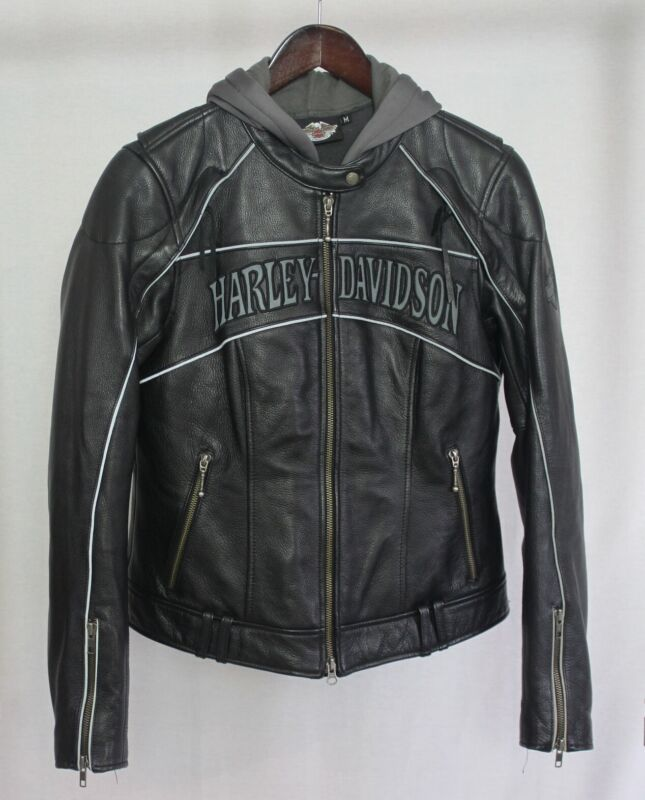 Harley Davidson Women Size Medium Willie G Leather Jacket and Liner