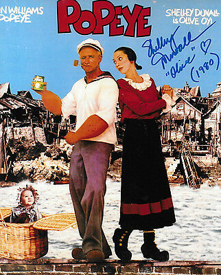 Popeye Shelley Duvall Signed Autographed Movie Photo Coa  Proof  Olive