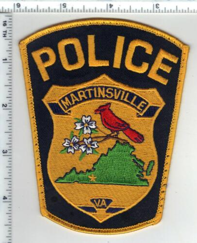 Martinsville Police (Virginia) Uniform Take-Off Shoulder Patch from the 1980