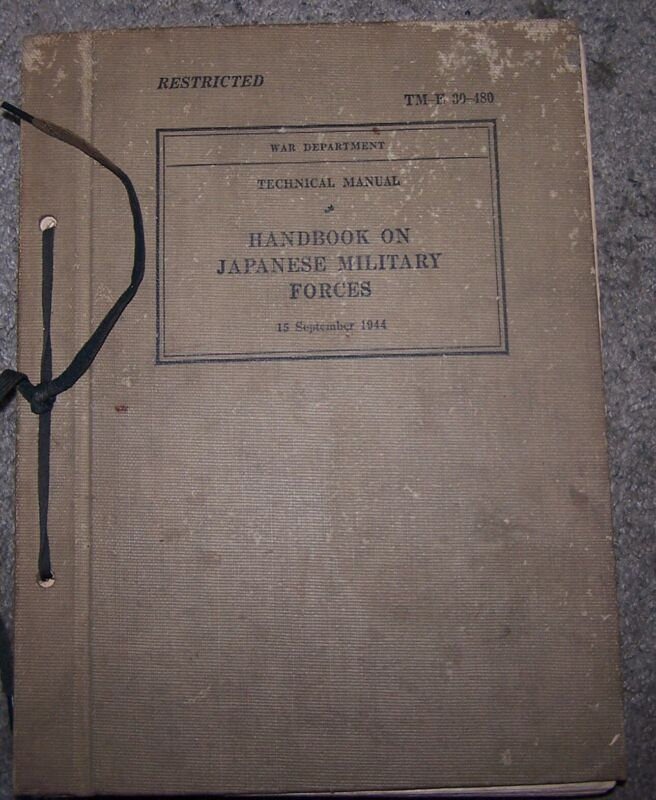 US Army War Battle FM Field Manual Japanese Japan Military Officer Army Nippon X