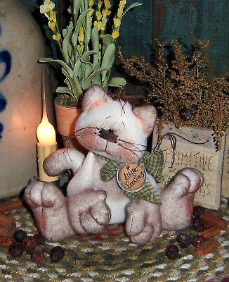 Primitive Patti's Ratties Siamese Kitty Cat Ornie Doll Paper Pattern #290