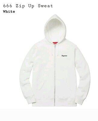 SS17 Supreme 666 Zip Up Sweatshirt