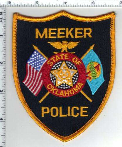 Meeker Police (Oklahoma) Shoulder Patch - new from the 1980