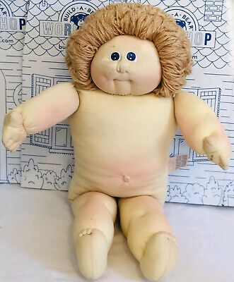 The Little People Xavier Roberts Soft Sculpture Signed Boy 1983 Blue Eyes Plush