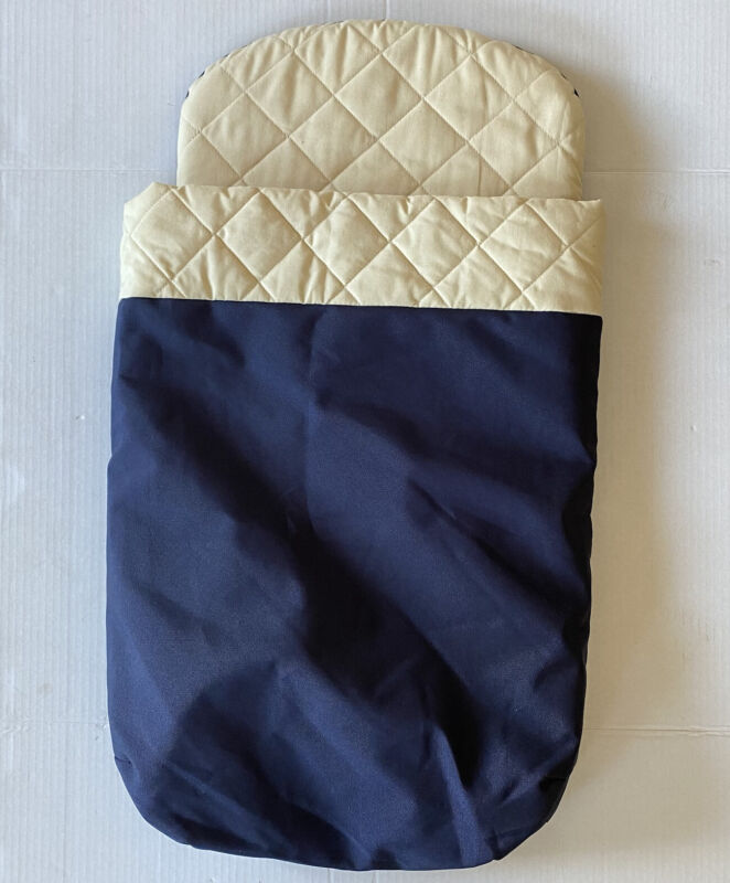 Bugaboo Frog Stroller Bassinet Mattress And Quilted Liner Cover Navy Blue