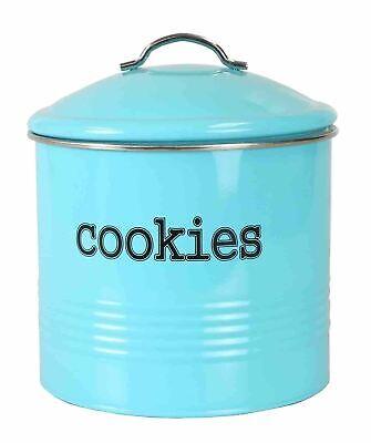 Tin Cookie Jar - Home Basics Tin Cookie Jar, Turquoise - CS47384