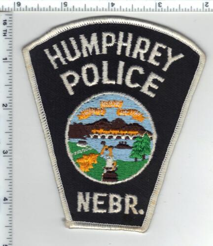 Humphrey Police (Nebraska) Shoulder Patch  - new from the 1980