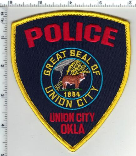 Union City Police (Oklahoma) Shoulder Patch from the 1980