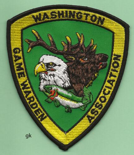 WASHINGTON GAME WARDEN ASSOCIATION  POLICE SHOULDER PATCH