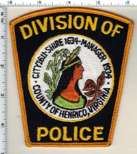 Henrico Division of Police (Virginia) Uniform Take-Off Shoulder Patch 1980