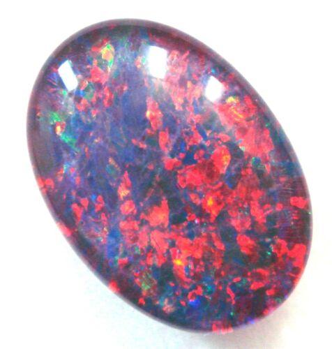 Australian 14x10x4mm Natural Black Triplet Opal Stone For Ring Pendant Bracelet