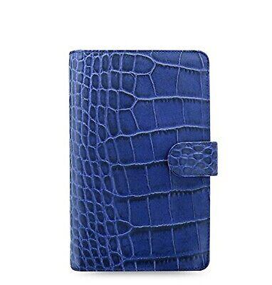 Filofax Classic Personal Compact Size Croc Print Leather Organizer Agenda 026007