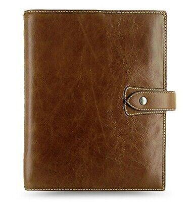 Filofax Malden Ochre A5 Size Leather Organizer Agenda Ring Binder Diary 2019-...