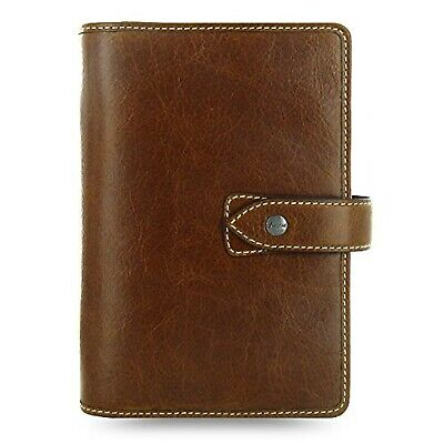 Filofax Weekly Daily Planner Malden Ochre Personal Size Leather Organizer Age...