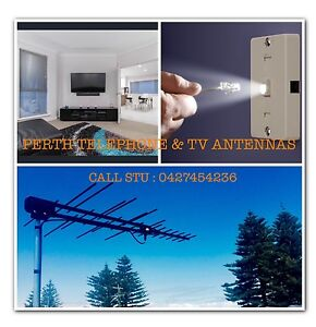 PHONE DATA TV POINTS-TV ANTENNAS-TV WALLMOUNTS-ADSL REWIRES & REPAIR Perth Perth City Area Preview