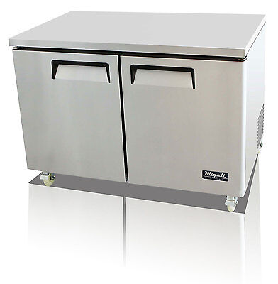 Migali C-u48f Commercial Two Door Undercounter Freezer