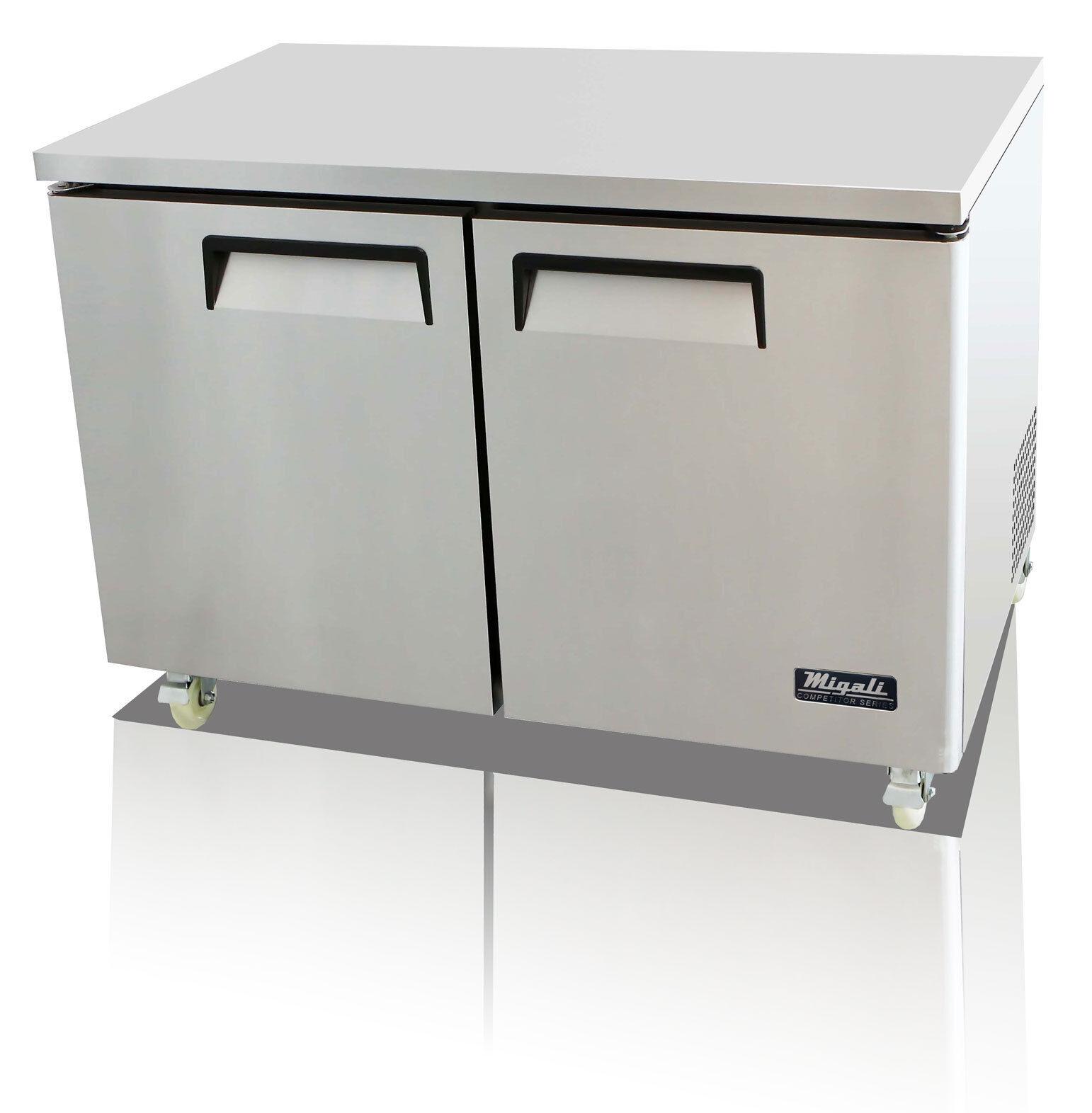 c u48r commercial two door undercounter refrigerator
