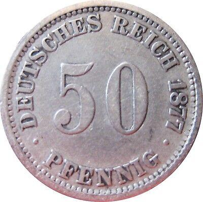 J  7   50 Pfennig  1877 E in SS   575006