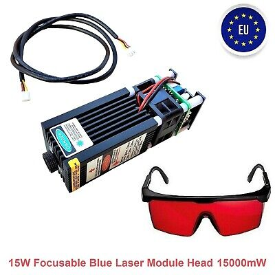 15w Focusable Blue Laser Module Head 15000mw For Cnc Engraving Cutter Machine