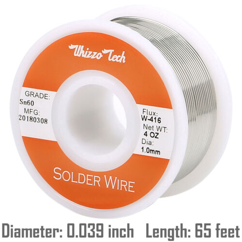 """60-40 Tin Rosin Core Solder Wire Electrical Soldering Sn60 Flux .039""""/1.0mm 100g"""