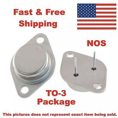 2x Motorola 2n5067 Npn Silicon Power Transistor 40v 5a Case To-3 Nos