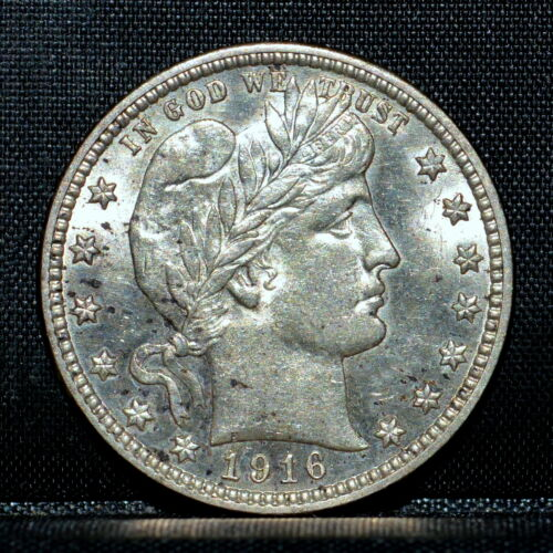 1916-D BARBER QUARTER ✪ UNCIRCULATED ✪ 25C SILVER UNC BU MS L@@K NOW ◢TRUSTED◣