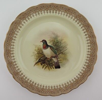 Royal Worcester Vitreous China game service Pigeon plate 1896