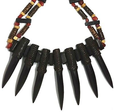 - Pendant Necklace Carabao Buffalo Horn Decorative Ornament Taxidermy